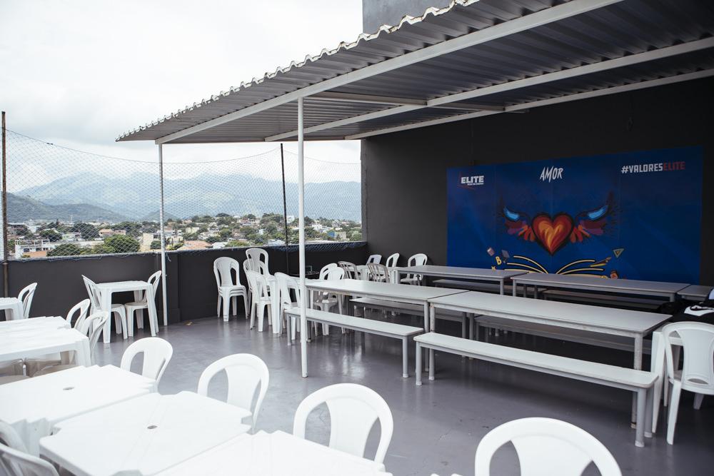 Área externa do pátio da unidade Elite Campo Grande I