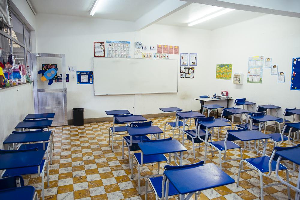 Sala de aula da unidade Elite Iguaçuano