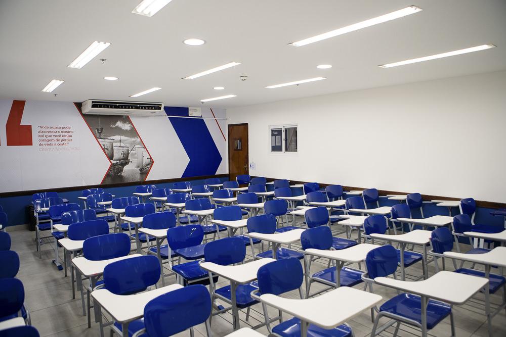 Sala de aula do Elite Norte Shopping