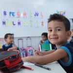 Aluno da educação infantil do Elite Guará