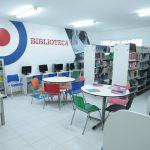 Biblioteca e sala de estudos